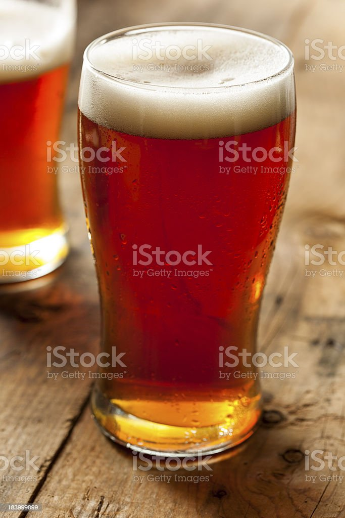 Cool Refreshing Dark Amber Beer royalty-free stock photo