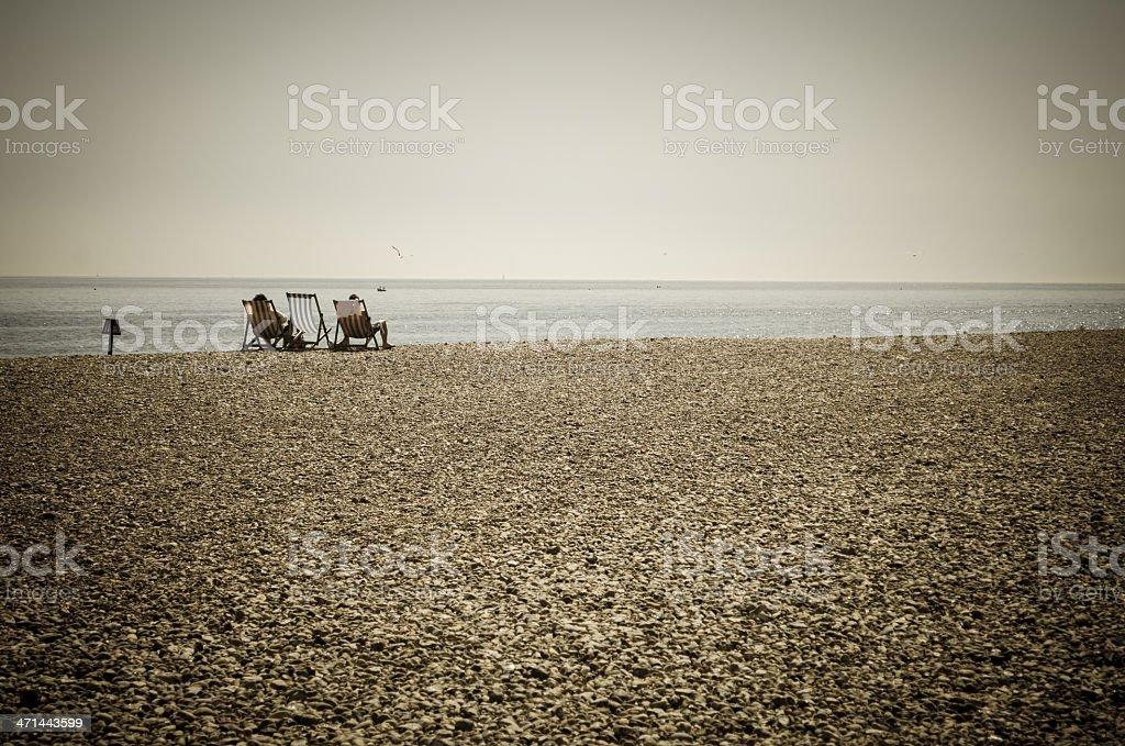 cool relaxing beach scene stock photo