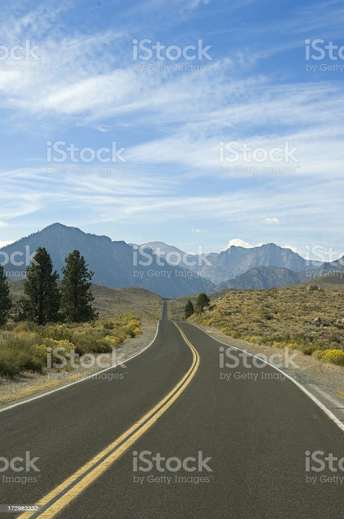 Cool Road into the Mountains royalty-free stock photo