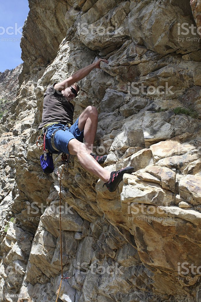 Cool rock climber man royalty-free stock photo