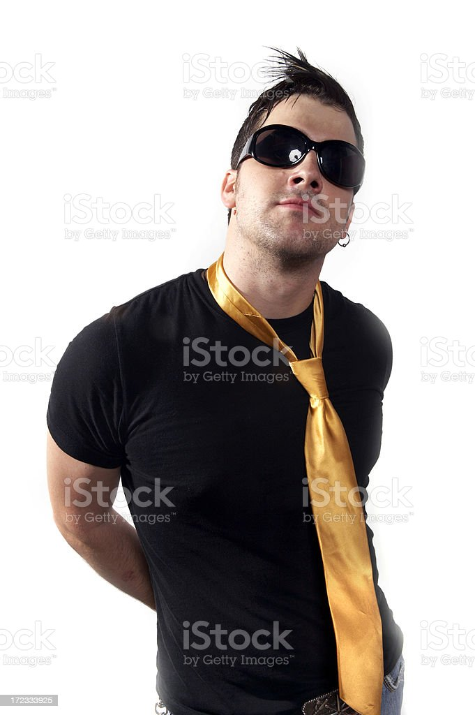 Cool rock musician royalty-free stock photo