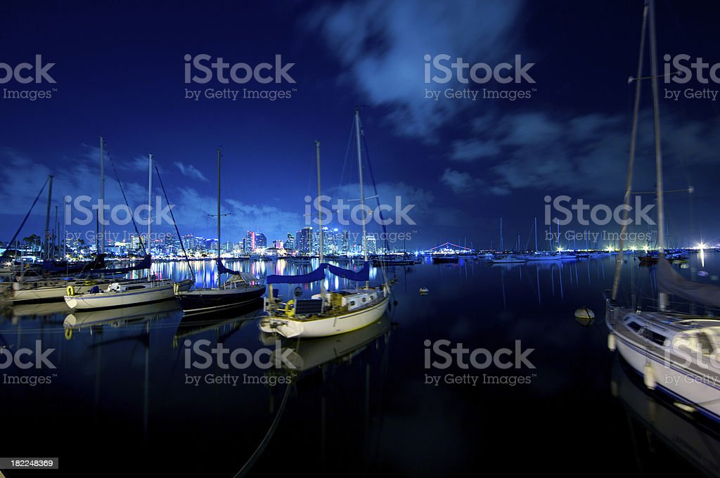 Cool San Diego night stock photo