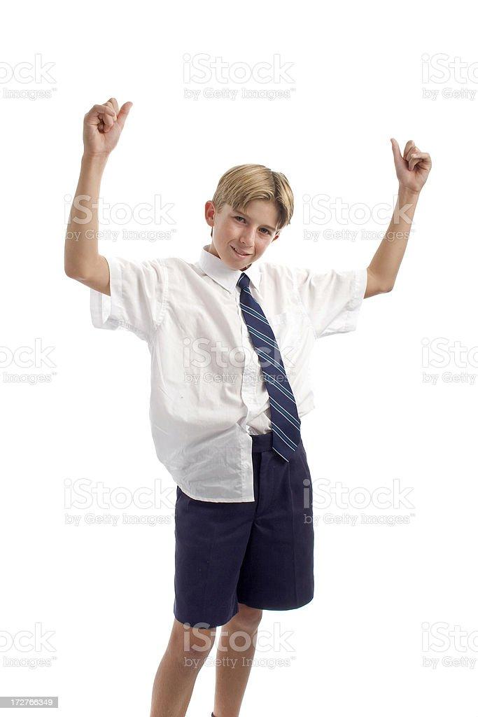 Cool School Boy stock photo