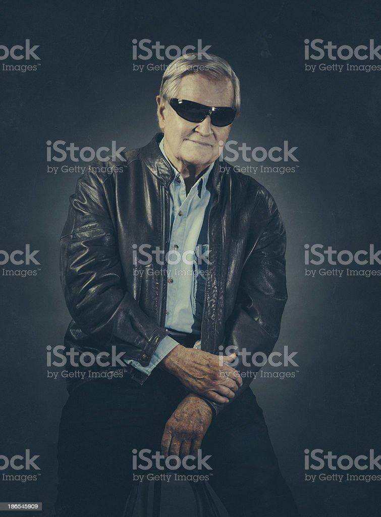 cool senior stock photo