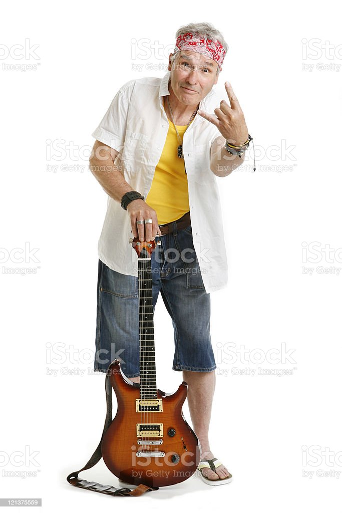 Cool Senior Rocker royalty-free stock photo