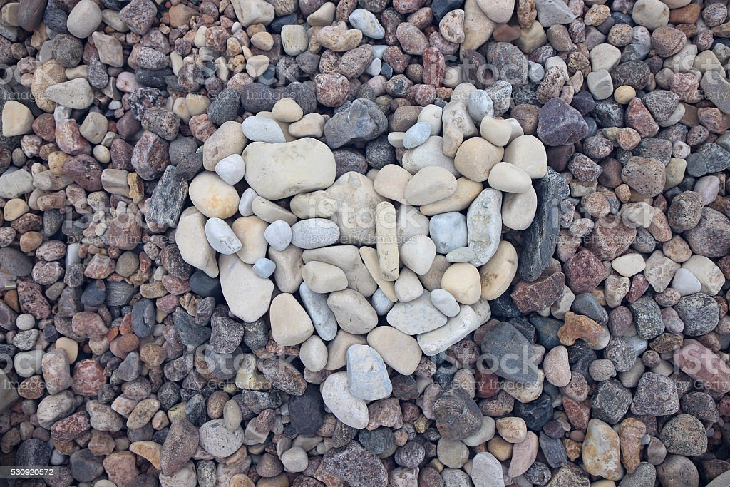 Cool shade sea stone heart stock photo