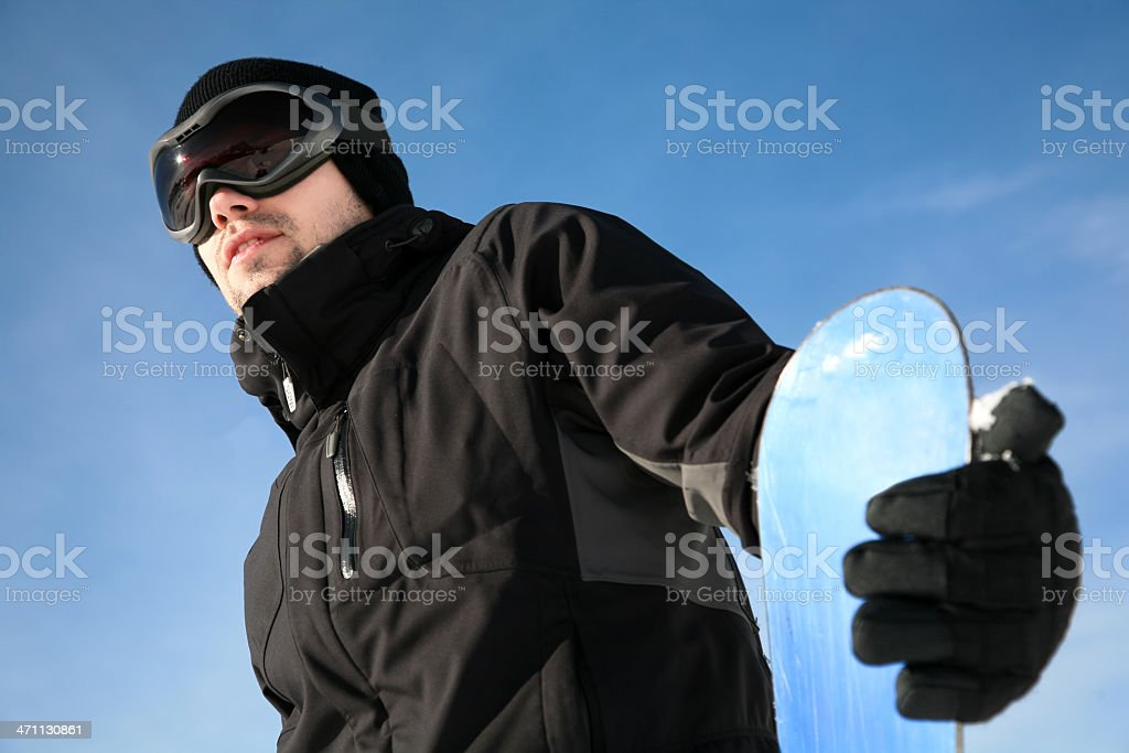 cool snowboarder royalty-free stock photo