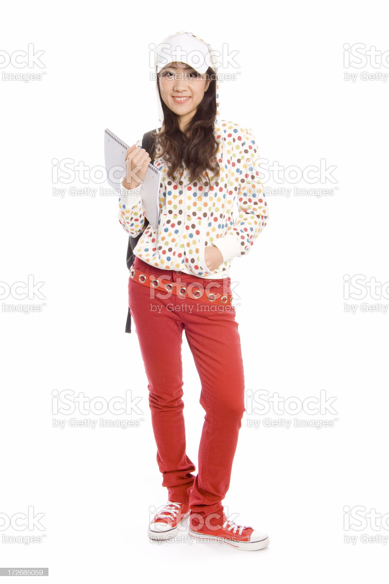 Cool student royalty-free stock photo