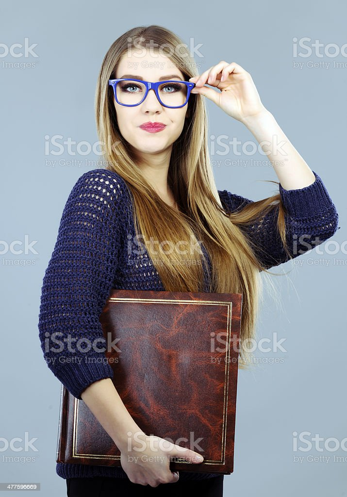 cool student with eyeglasses royalty-free stock photo