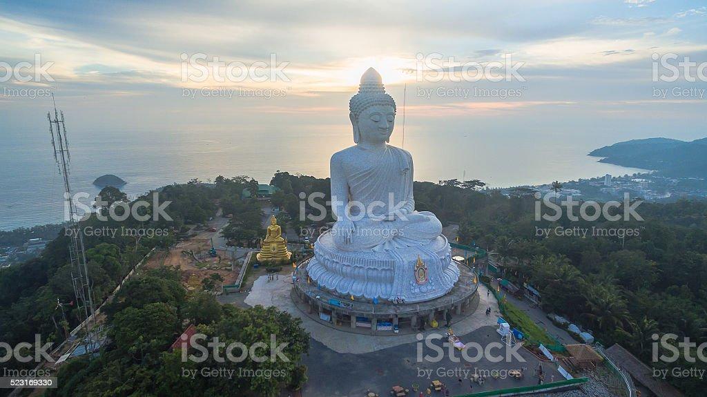 cool sunset at Big Buddha stock photo