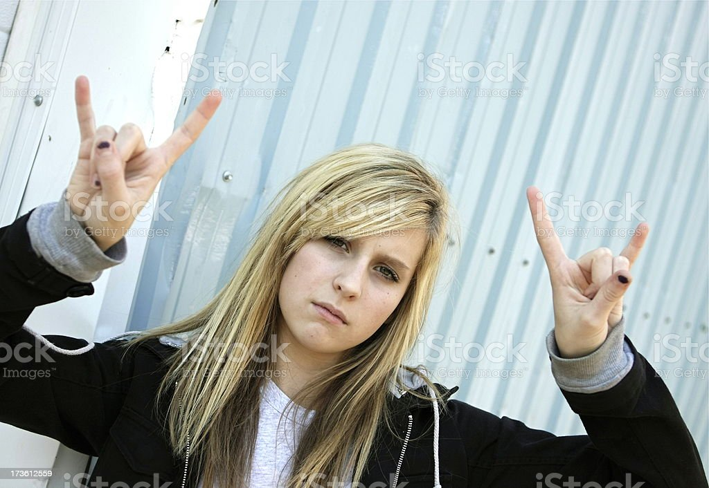 Cool Teen royalty-free stock photo