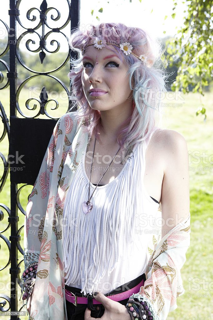 Cool thoughtful teenager royalty-free stock photo
