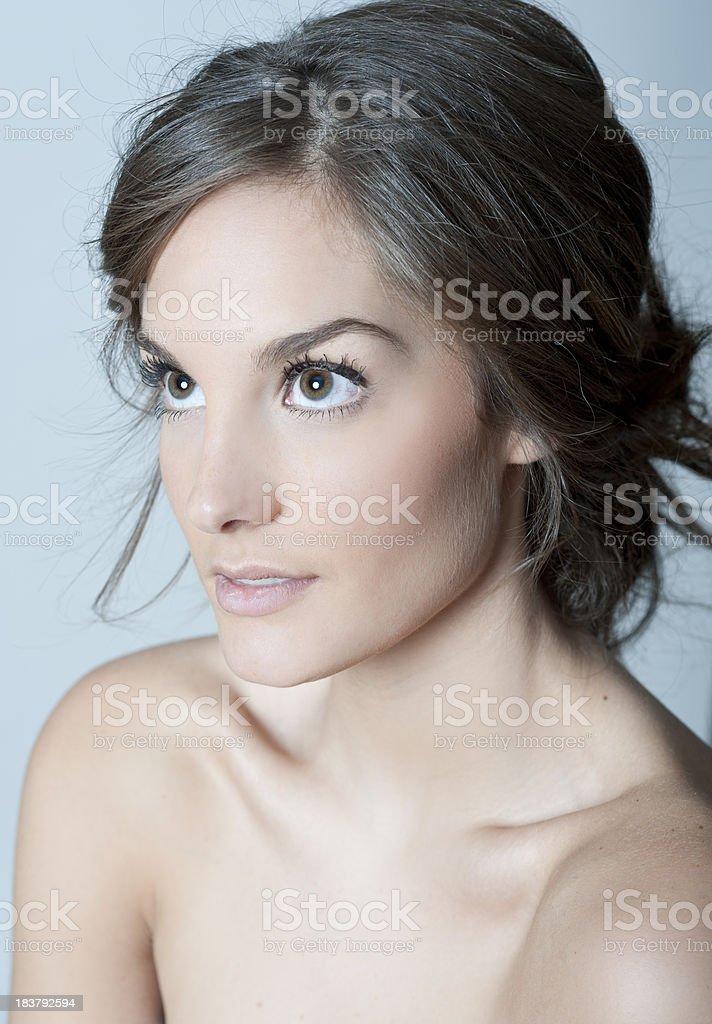 Cool Tones Portrait royalty-free stock photo