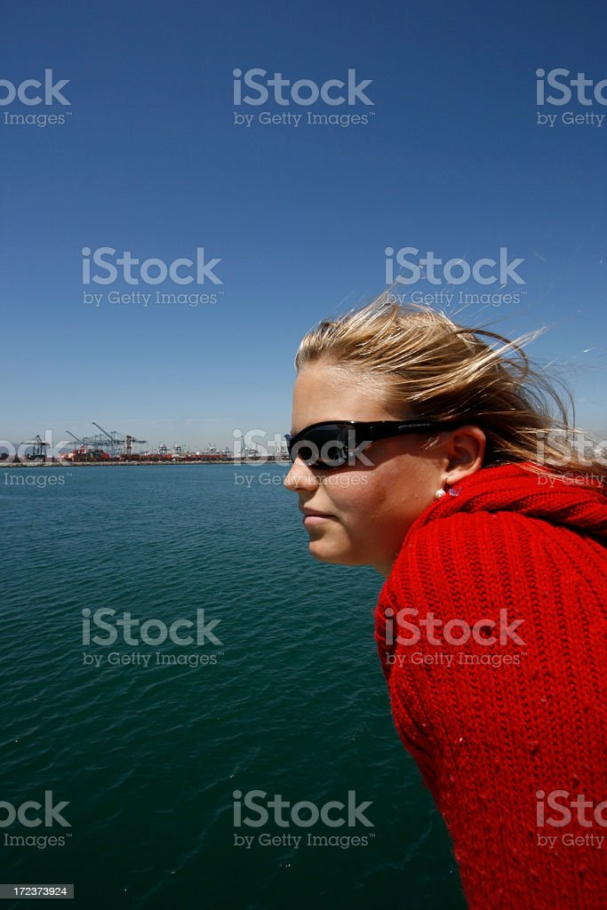 Cool View Boating and Sailing royalty-free stock photo