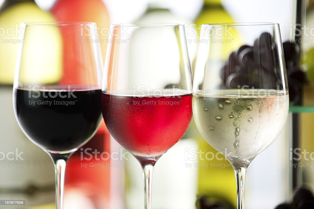 Cool white wine and grapes stock photo