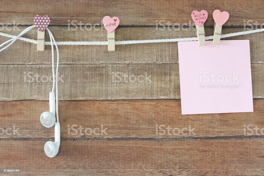 cool with love note paper stock photo