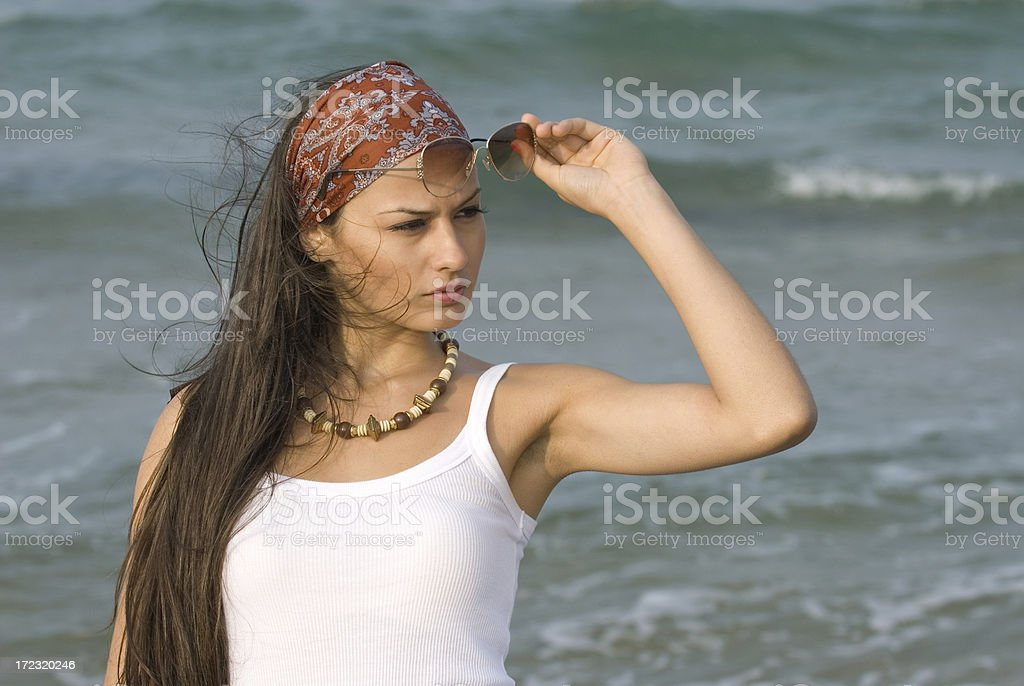 cool woman royalty-free stock photo