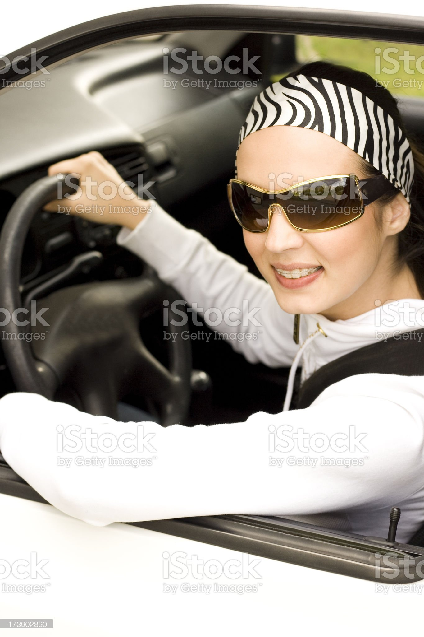 Cool  Young Driver royalty-free stock photo