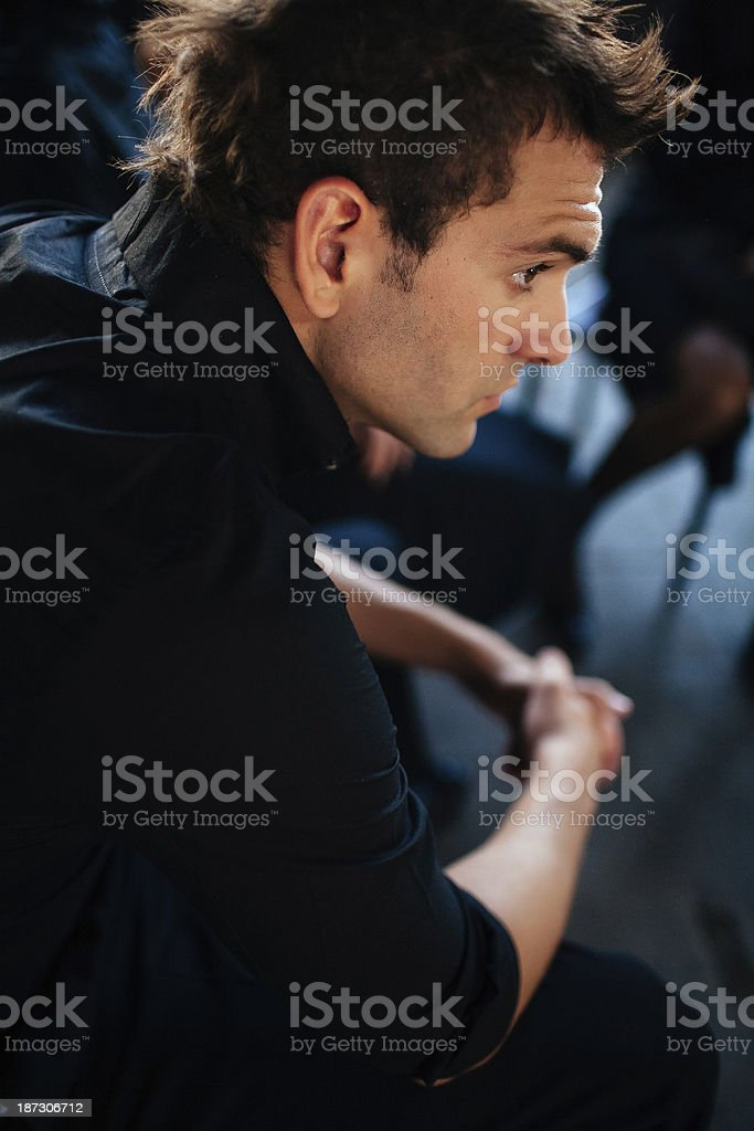 cool young guy stock photo