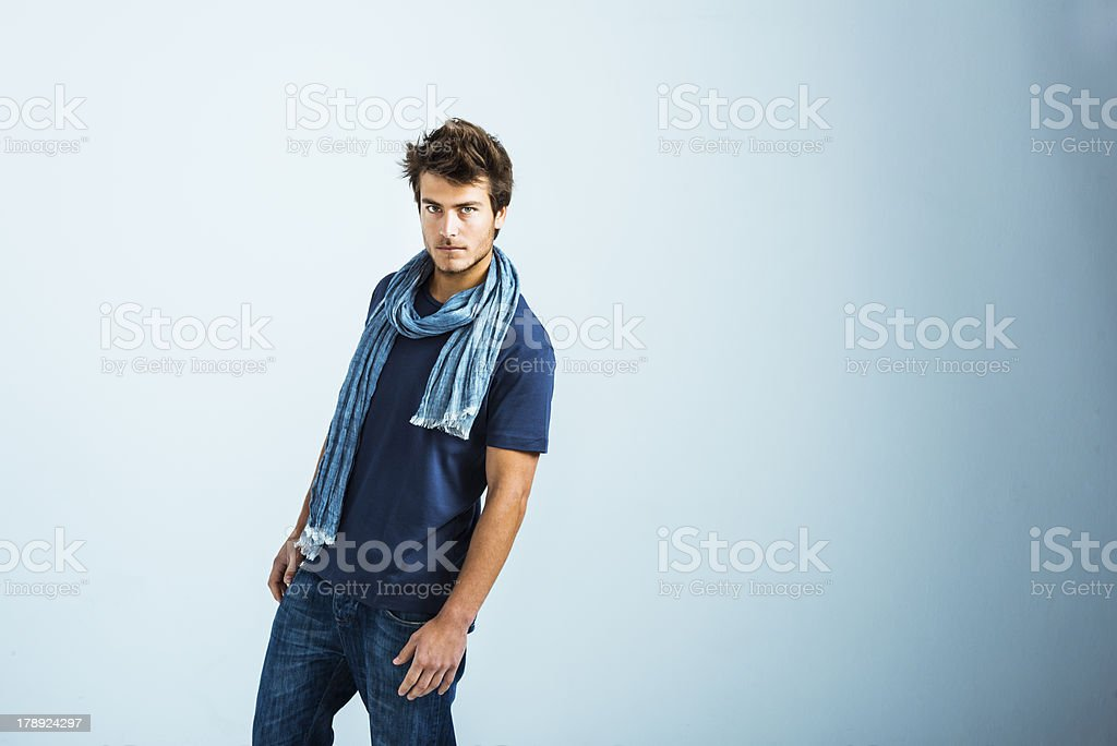 Cool young man in casual clothes royalty-free stock photo