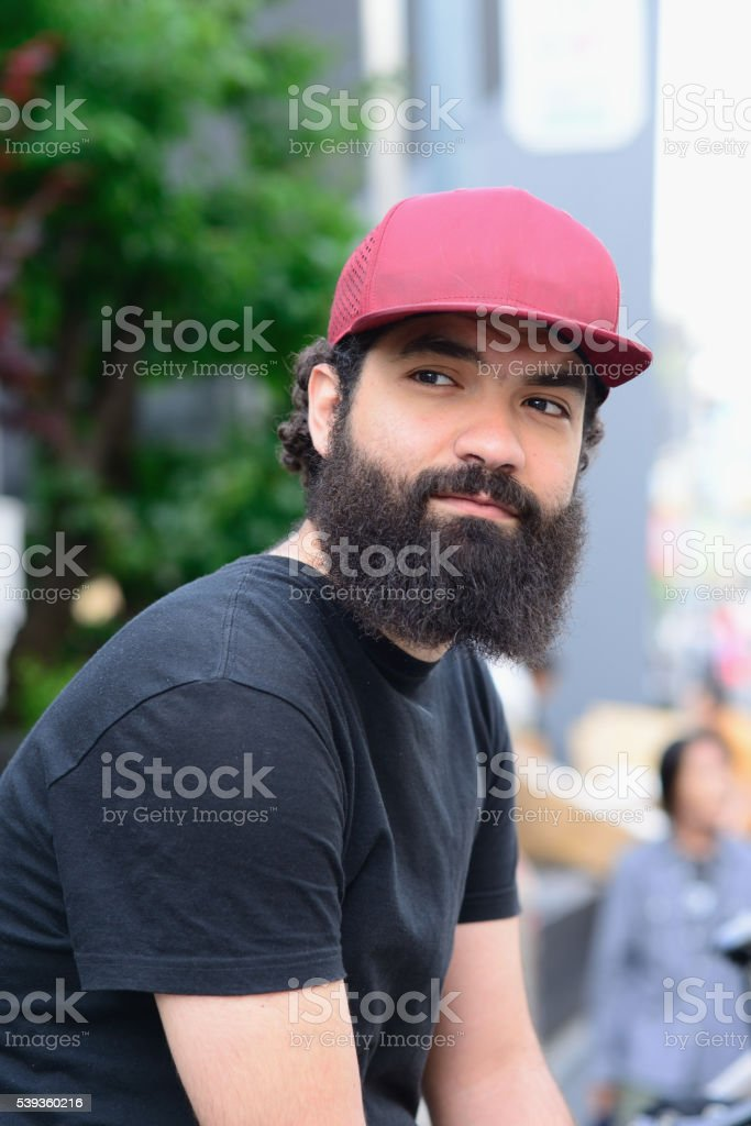 Cool young man stock photo