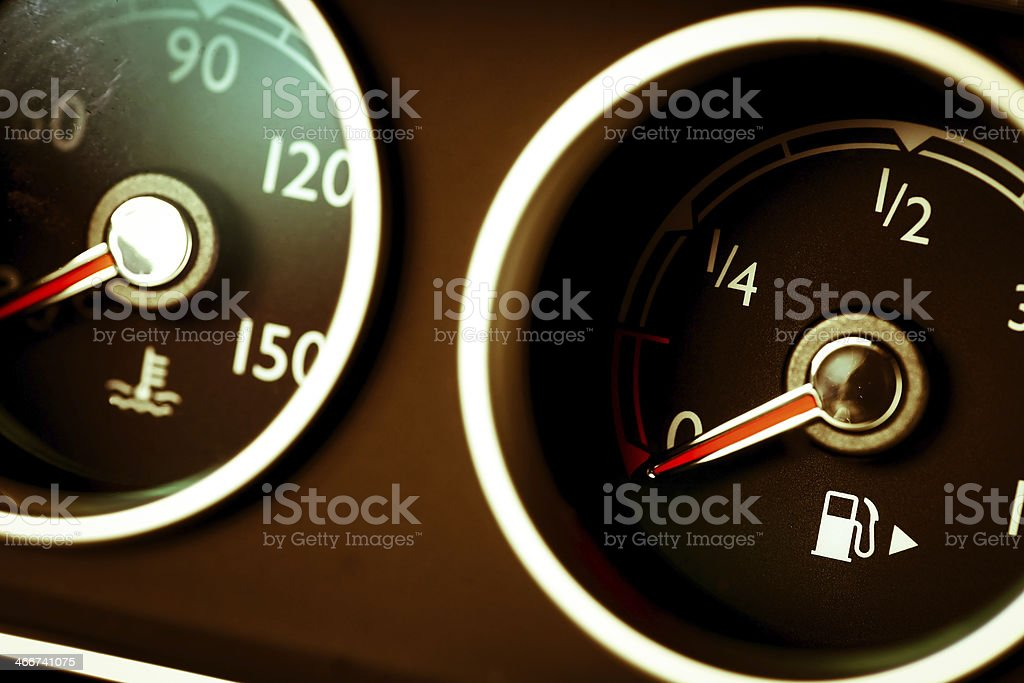 Coolant and gas royalty-free stock photo