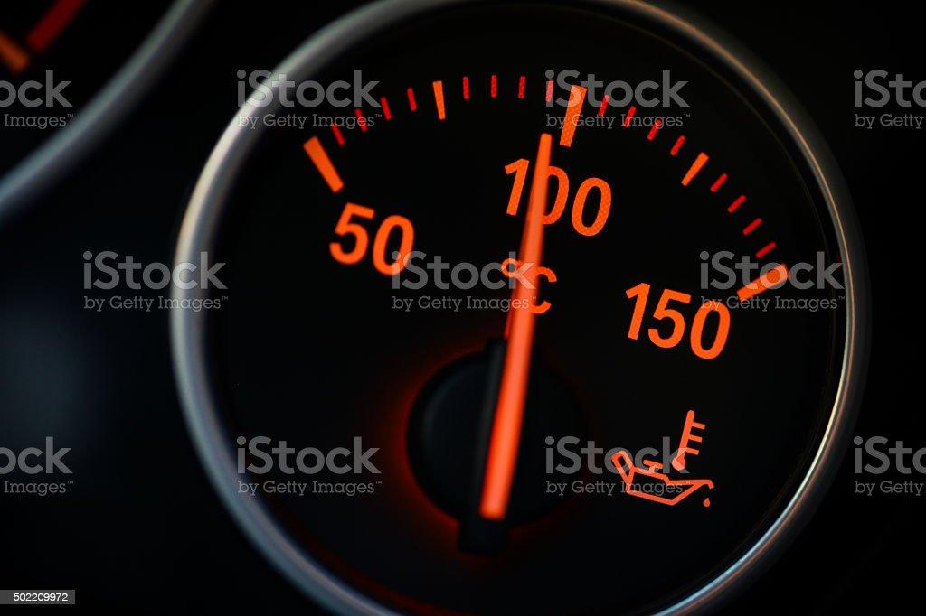 Coolant gauge detail stock photo
