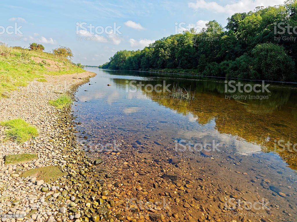 Cool,clean river stock photo