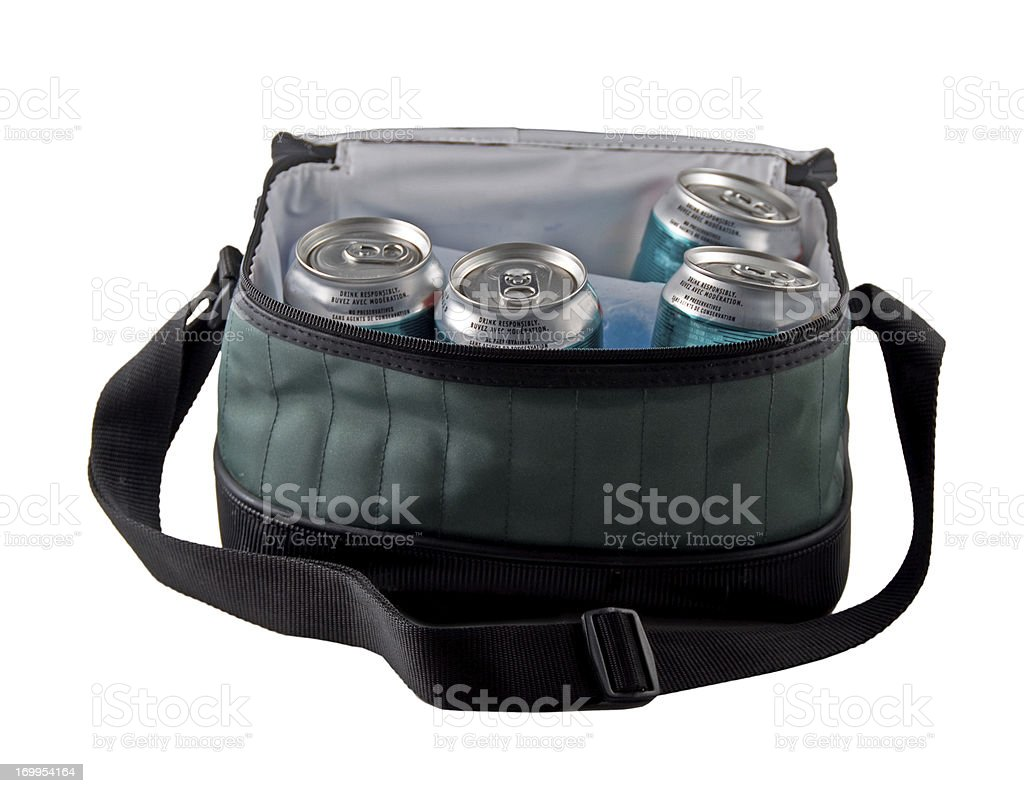 Cooler and Beverages stock photo