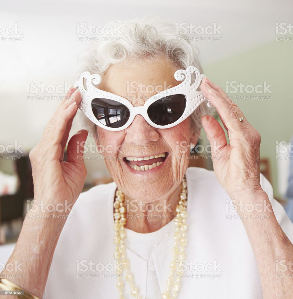 Cooler than your average gran stock photo