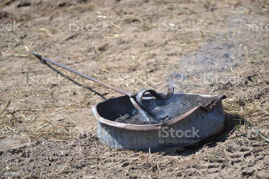 Cooling Branding Irons stock photo