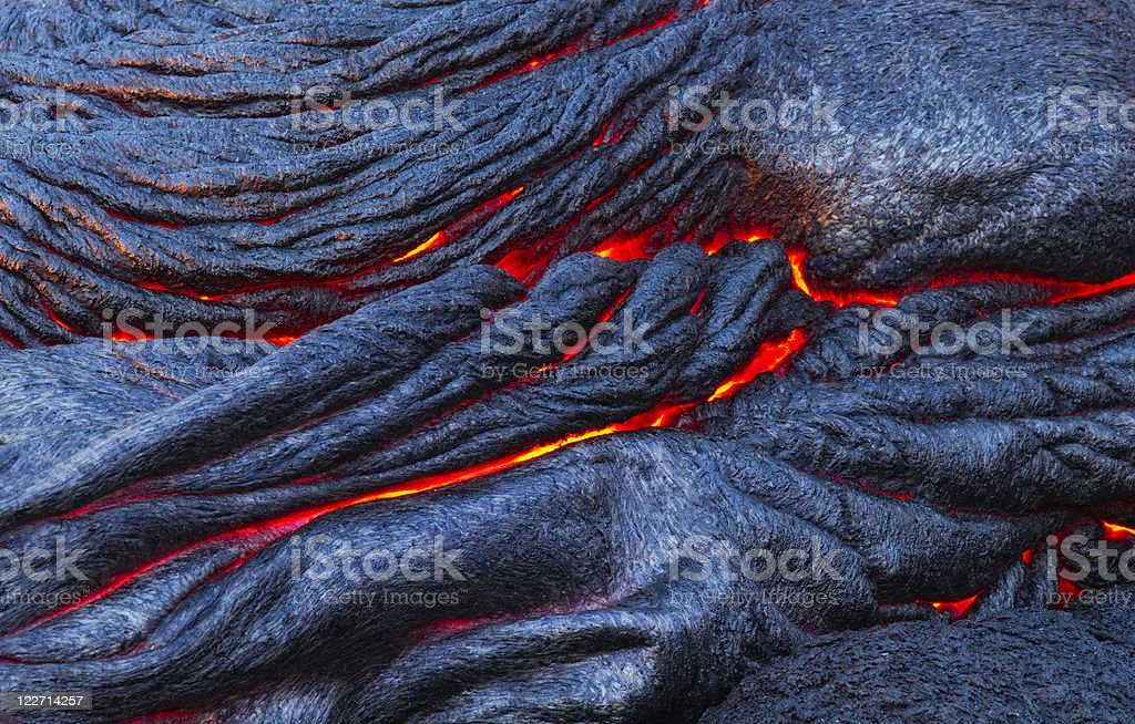Cooling Lava royalty-free stock photo