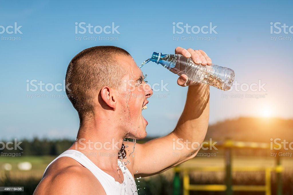 Cooling off ! stock photo