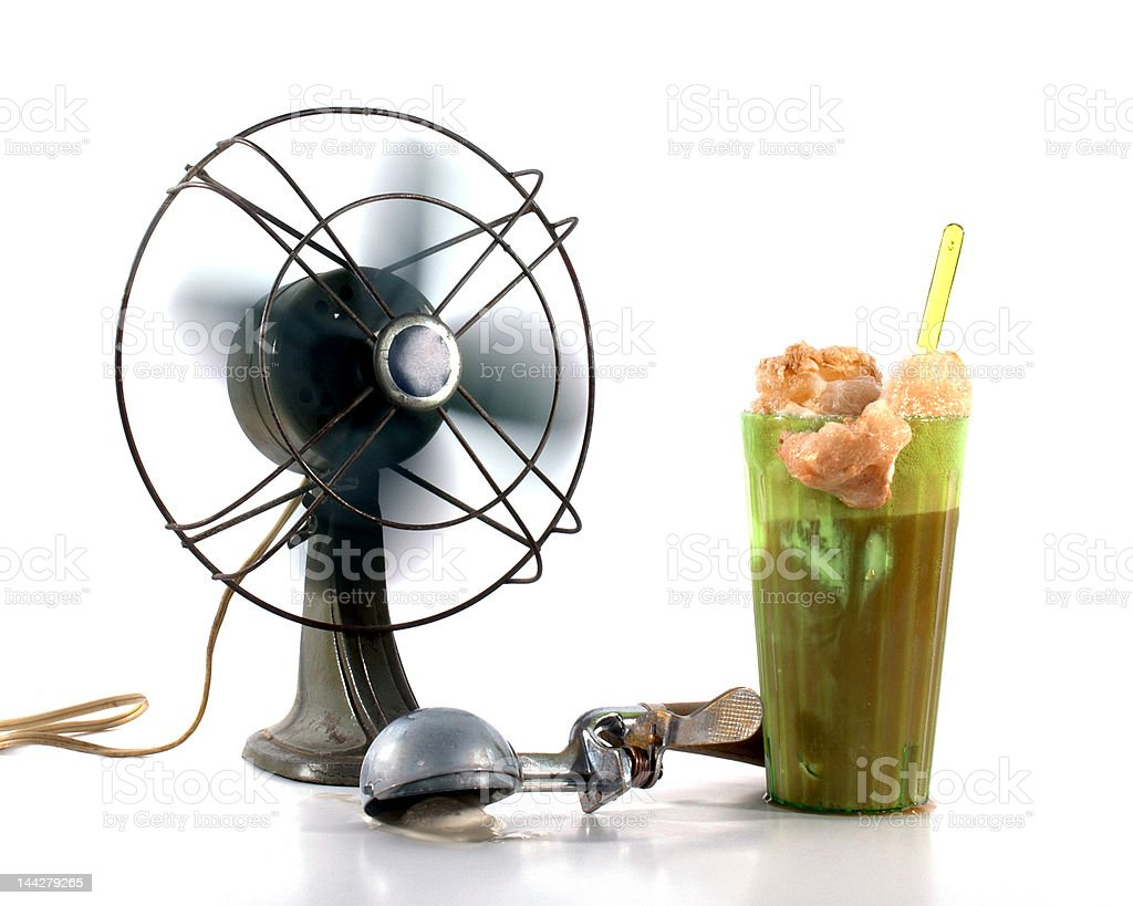 Cooling Off, Vintage Style stock photo