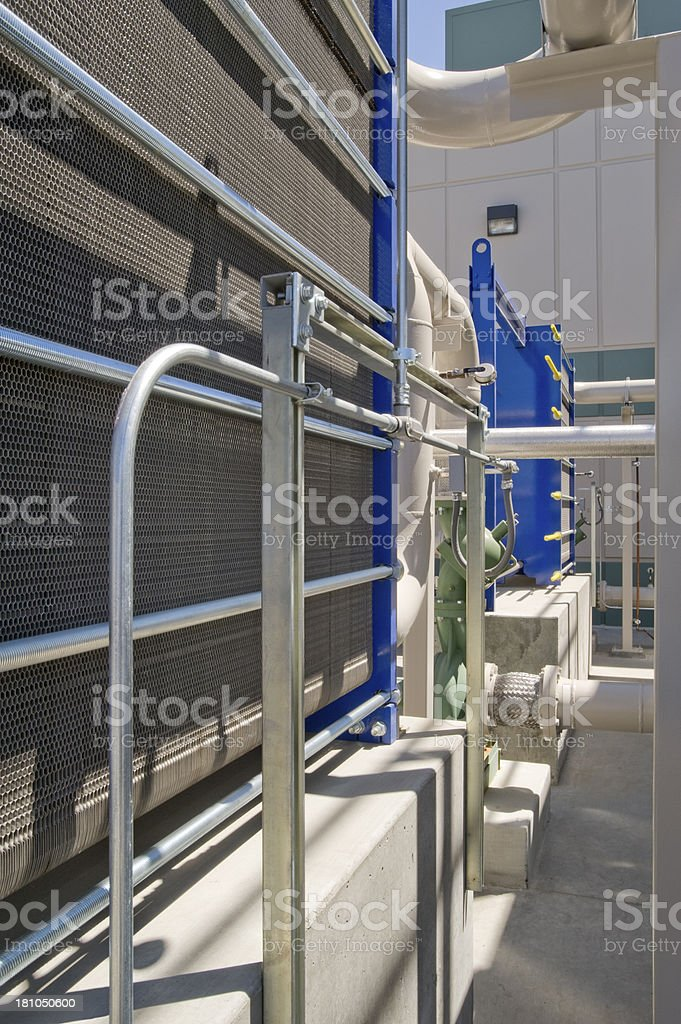 Cooling Radiator for HVAC System royalty-free stock photo