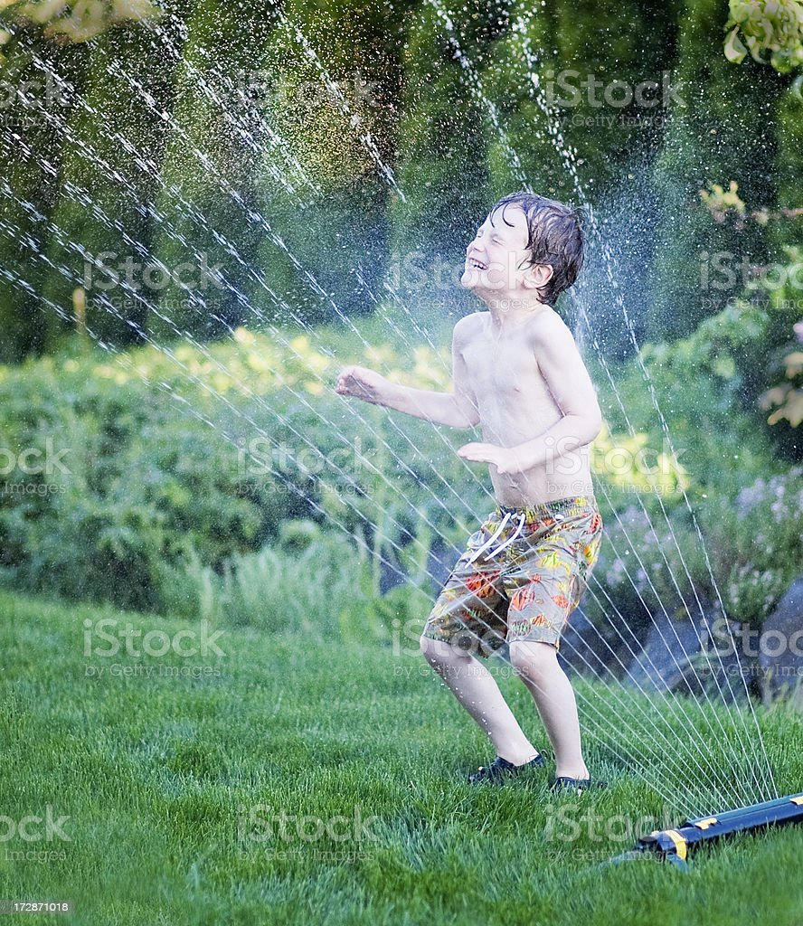 Cooling spray stock photo