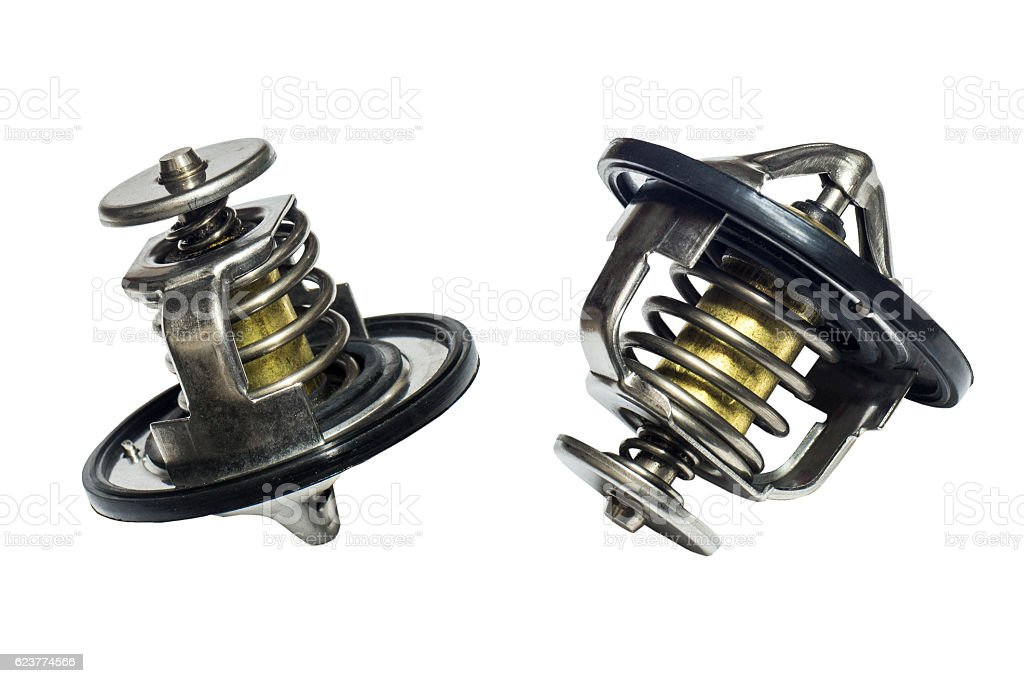 cooling system thermostat stock photo