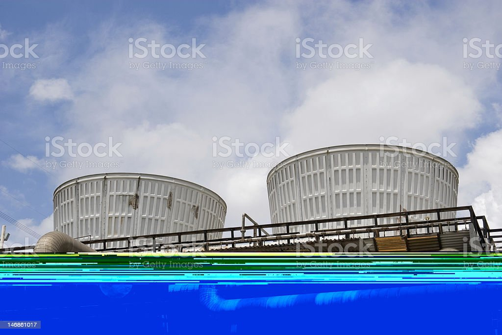 Cooling tower 3 stock photo
