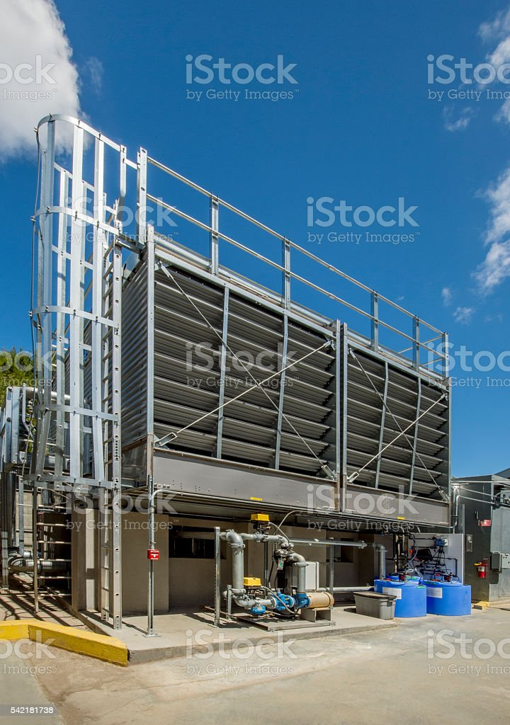 Cooling Tower for HVAC stock photo