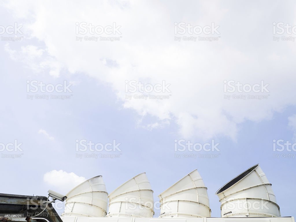 cooling tower hood royalty-free stock photo