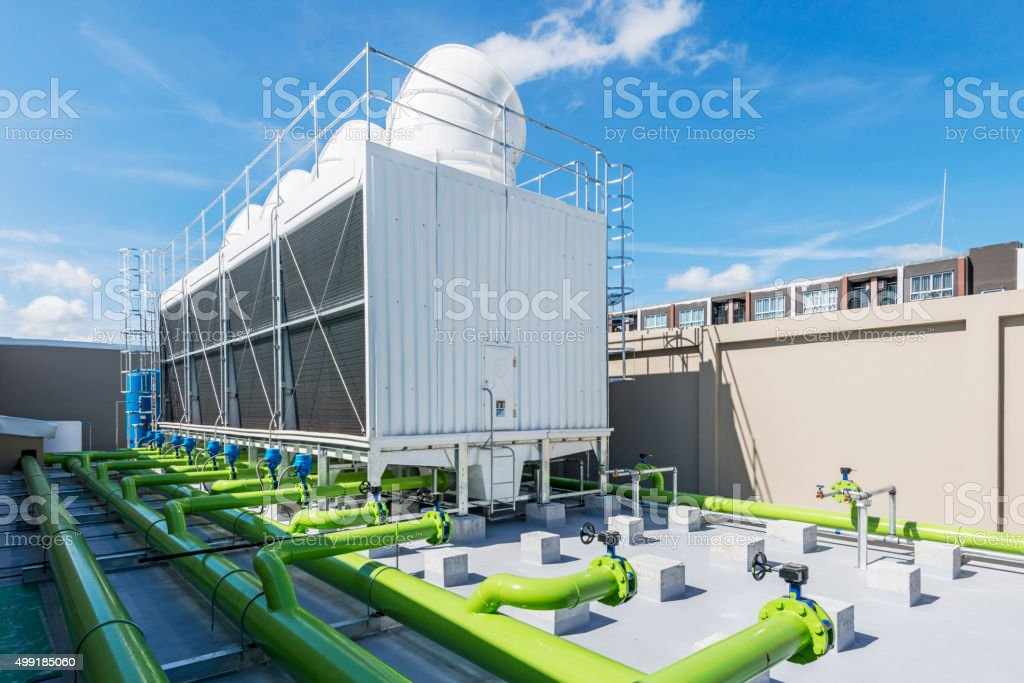 Cooling tower stock photo