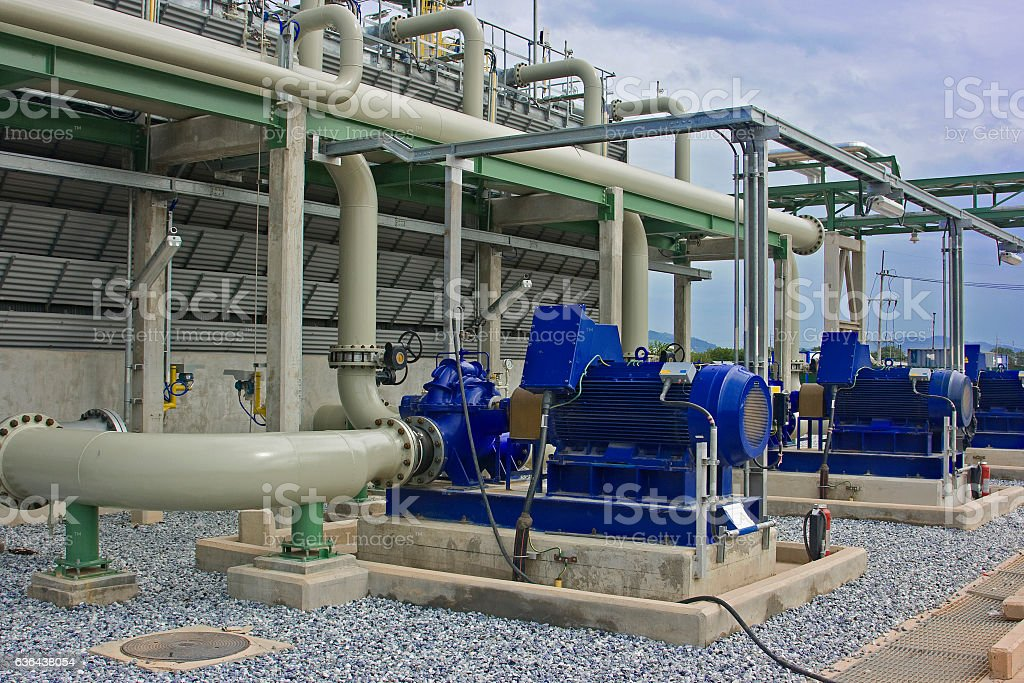 Cooling Tower Pumps stock photo