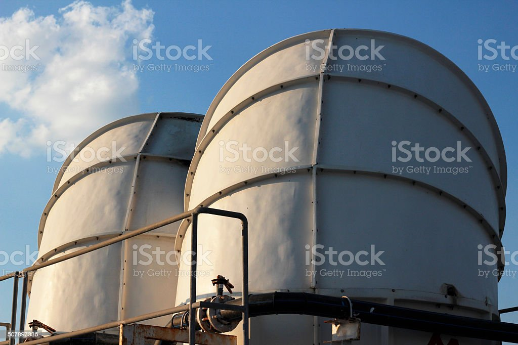 cooling tower system stock photo