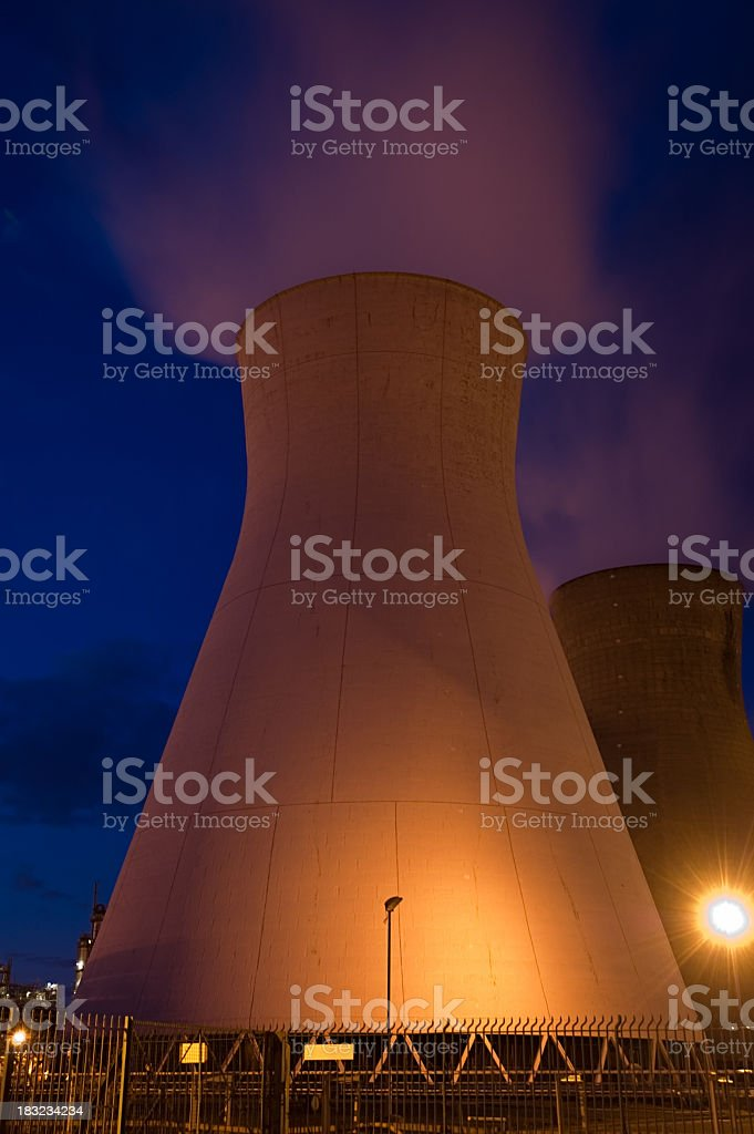 Cooling Towers at Dusk royalty-free stock photo