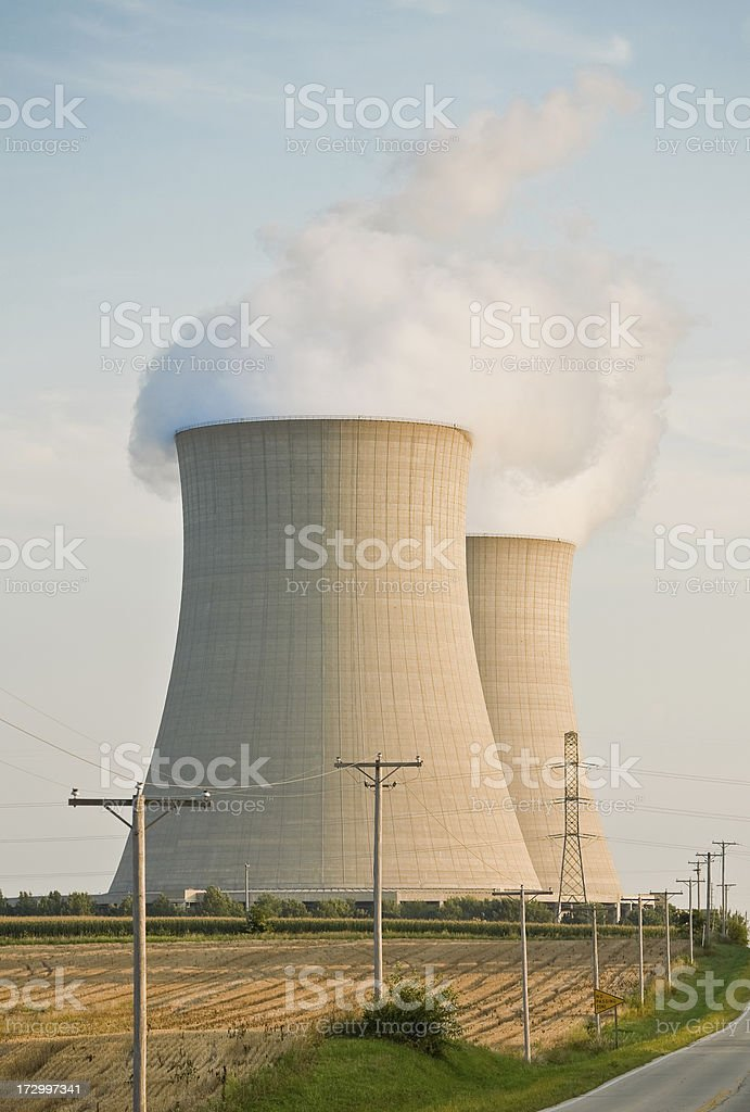 cooling towers close royalty-free stock photo