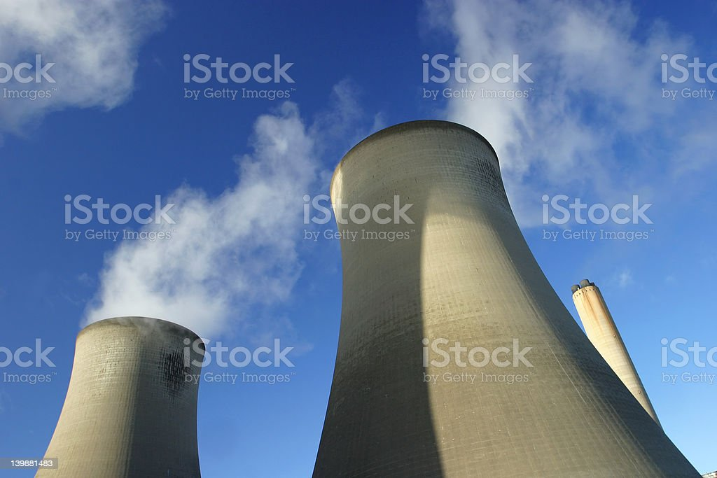 Cooling Towers royalty-free stock photo