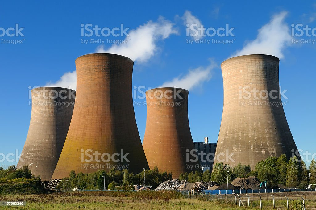 Cooling Towers, Power Station royalty-free stock photo