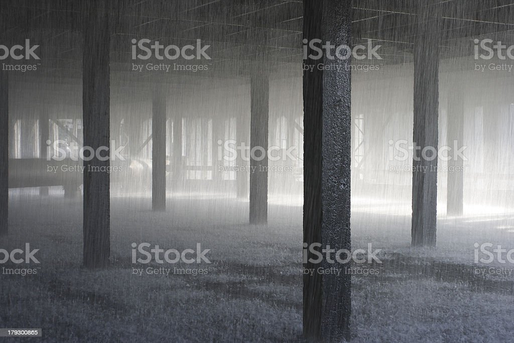 Coolling tower. heat power station stock photo