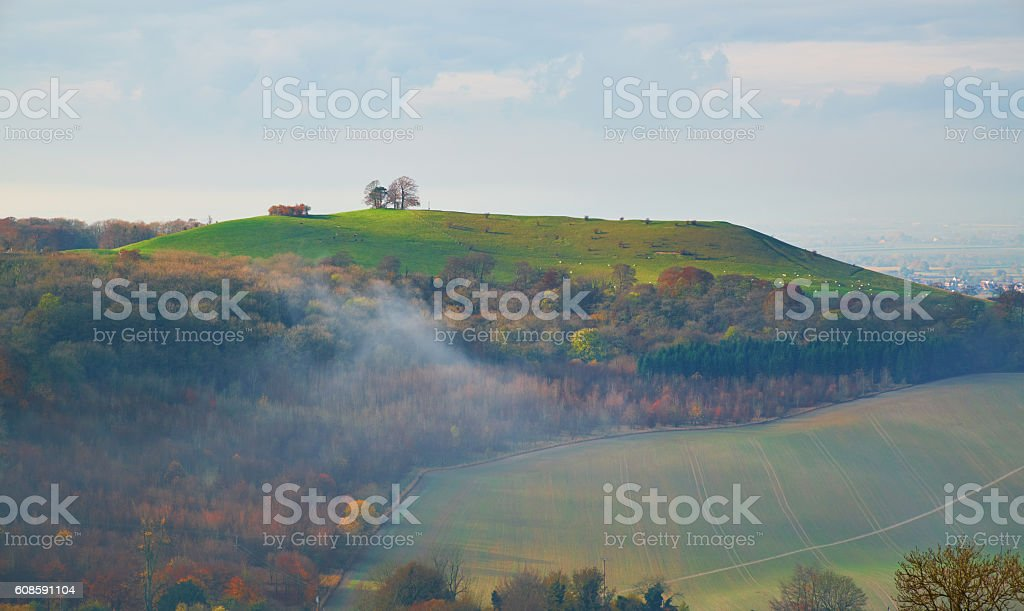 Coombe Hill In The Chilterns, Buckinghamshire stock photo