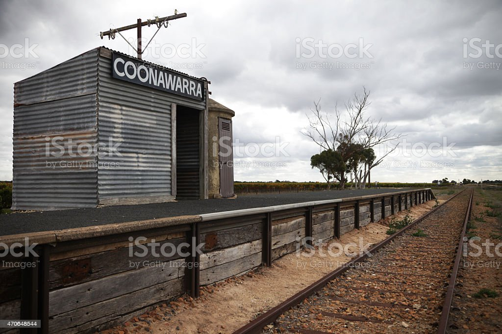 Coonawarra station stock photo